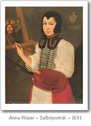 Anna Waser: Selbstportrait (1691)