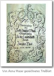 Von Anna Waser gezeichnetes Titelblatt