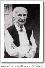 Aenne Heise im Alter von 90 Jahren