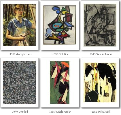 Werke von Lee Krasner