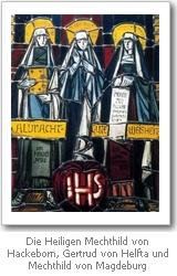 Fenster mit Darstellung der Gertrud von Helfta