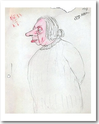 Krupskaja-Karikatur (1933)