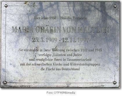 Gedenktafel für Maria Gräfin von Maltzan