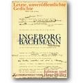 Bachmann 1998 – Letzte, unveröffentlichte Gedichte
