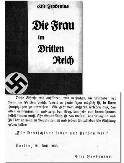 Else Frobenius – Die Frau im Dritten Reich