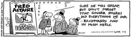 Cartoon zu Astaire und Rogers