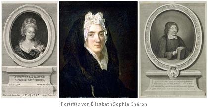 Porträts von Élisabeth Sophie Chéron