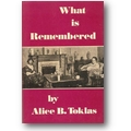 Toklas 1963 – What is remembered