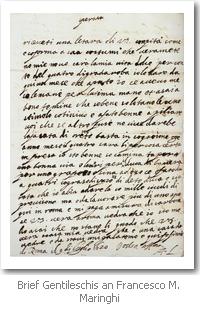Brief von Artemisia Gentileschi an Maringhi