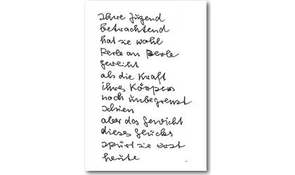 Gedicht von Doli Hilbert