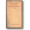 Conrad-Martius 1963-65 – Schriften zur Philosophie [Teilsammlung]