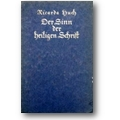 Huch 1919 – Der Sinn der Heiligen Schrift