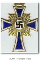Mutterkreuz in Gold