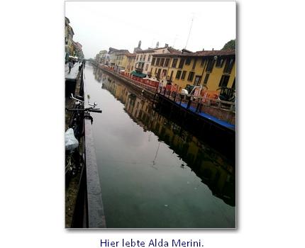 Hier wohnte Alda Merini.