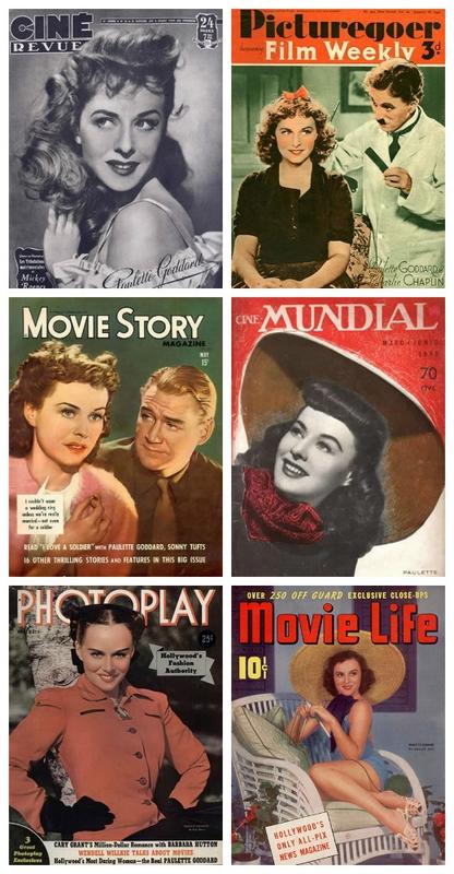 Paulette Goddard auf Magazincovern