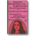 Brinker-Gabler (Hg.) 1978 – Deutsche Dichterinnen vom 16