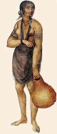 So könnte Pocahontas als Erwachsene ausgesehen haben (unbek. Zeichner, British Museum)