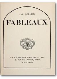 MONNIER 1932 – Fableaux