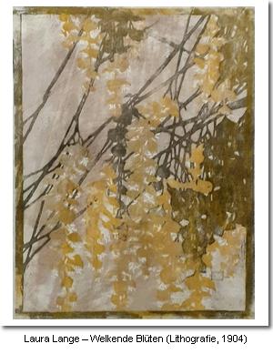 Laura Lange – Welkende Blüten (Lithografie, 1904)