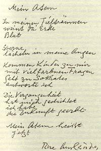 Gedicht von Rose Ausländer