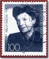 Deutsche Briefmarke zum 100. Geburtstag vonn Nelly Sachs
