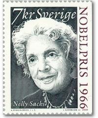 Schwedische Nelly-Sachs-Briefmarke