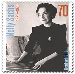 Deutsche Nelly-Sachs-Briefmarke anlässlich ihres 125. Geburtstages (2016)