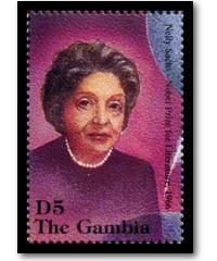 Briefmarke aus Gambia: 100 Jahre Nobelpreis – Nelly Sachs Literatur 1966