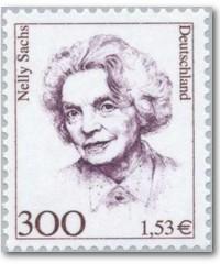 Nelly Sachs auf einer Briefmarke der deutschen Dauerserie »Frauen der deutschen Geschichte«