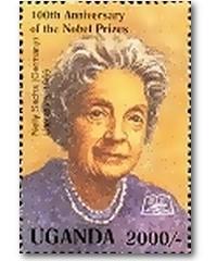 Briefmarke aus Uganda: 100 Jahre Nobelpreis – Nelly Sachs Literatur 1966