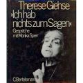 Sperr, Giehse 1986 – Therese Giehse Ich hab nichts