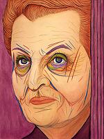Madeleine Albright, Gemälde von Kristín Halldórsdóttir Eyfells