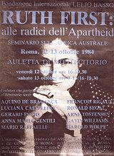 Ruth First auf einem Plakat (Italien)