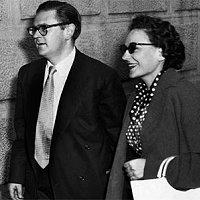Ruth First mit ihrem Ehemann Joe Slovo