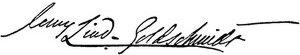 Unterschrift Jenny Lind-Goldschmidt