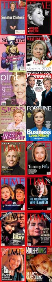 Hillary Clinton auf Titelbildern