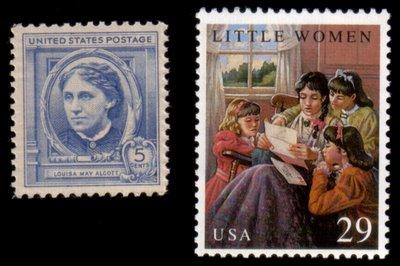 """Louisa May Alcott und """"Little women"""" auf Briefmarken"""