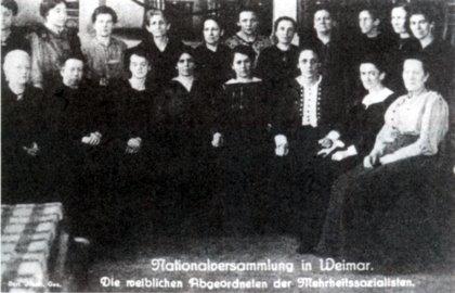 Nationalversammlung in Weimar: Die weiblichen Abgeordneten der Mehrheitssozialisten