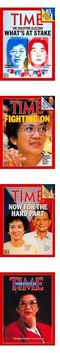 Corazón Aquino auf Time-Covern