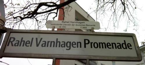 Rahel Varnhagen Promenade in Berlin. Foto Julie Niederhauser.