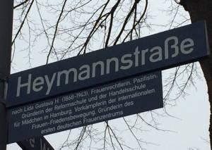 Heymannstraße in Hamburg. Foto von Zoe Niederhauser