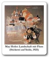 May Hofer: Landschaft mit Fluss