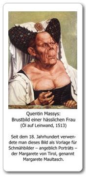 Massys: Brustbild einer hässlichen Frau