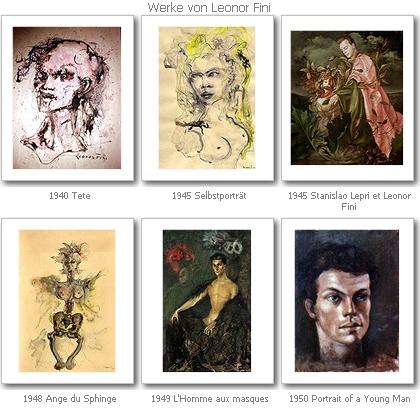 Werke von Leonor Fini, Quelle: CFM gallery